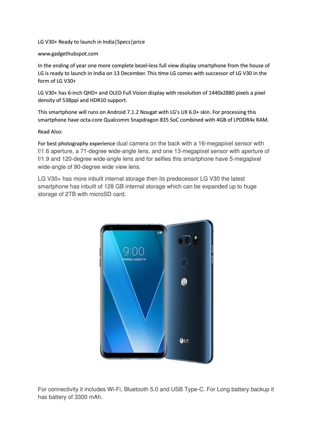 Lg v30+ by gadgethubspot - issuu