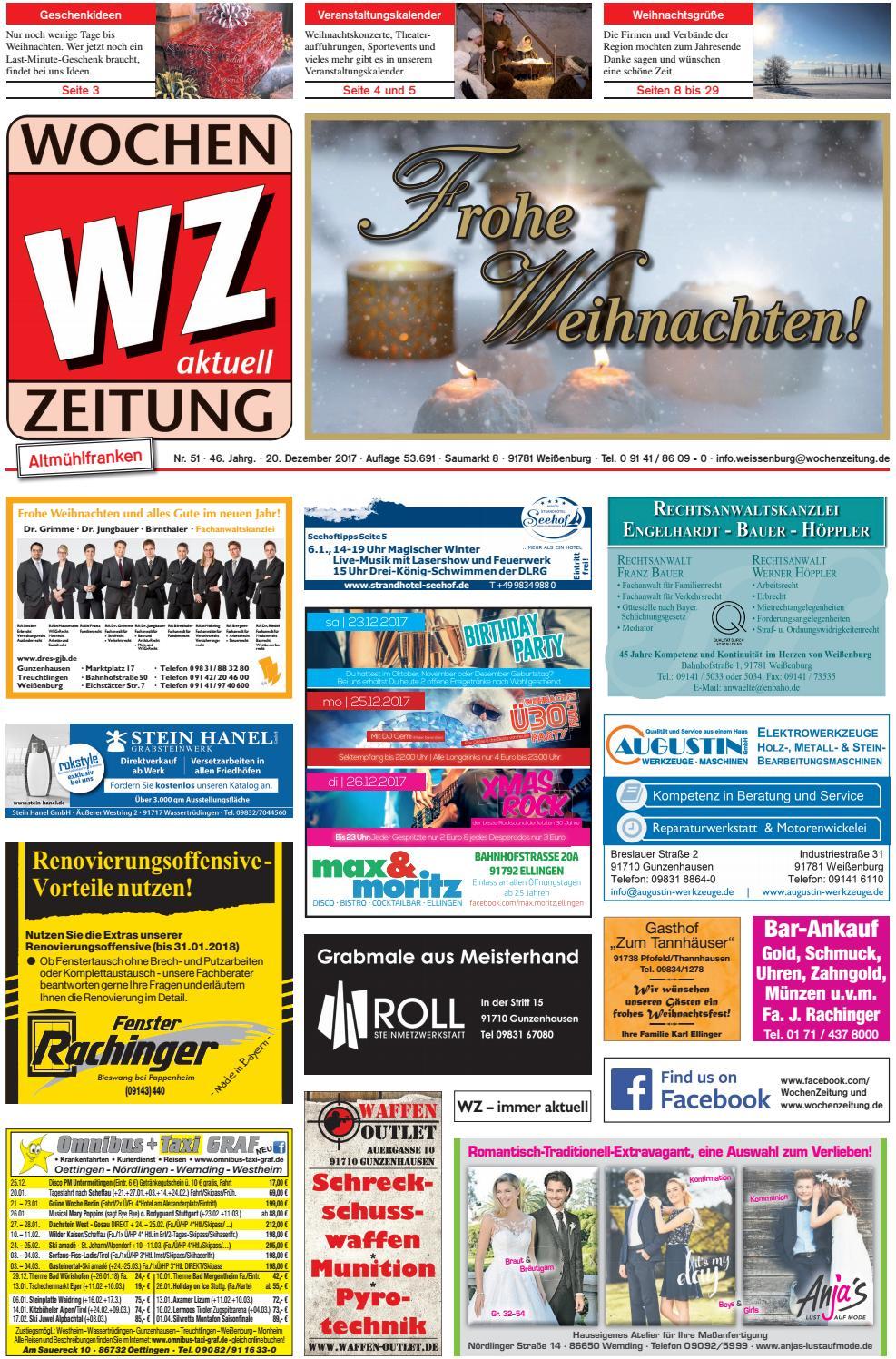 Wochenzeitung Weissenburg Kw 51 By Wochenzeitung Sonntagszeitung