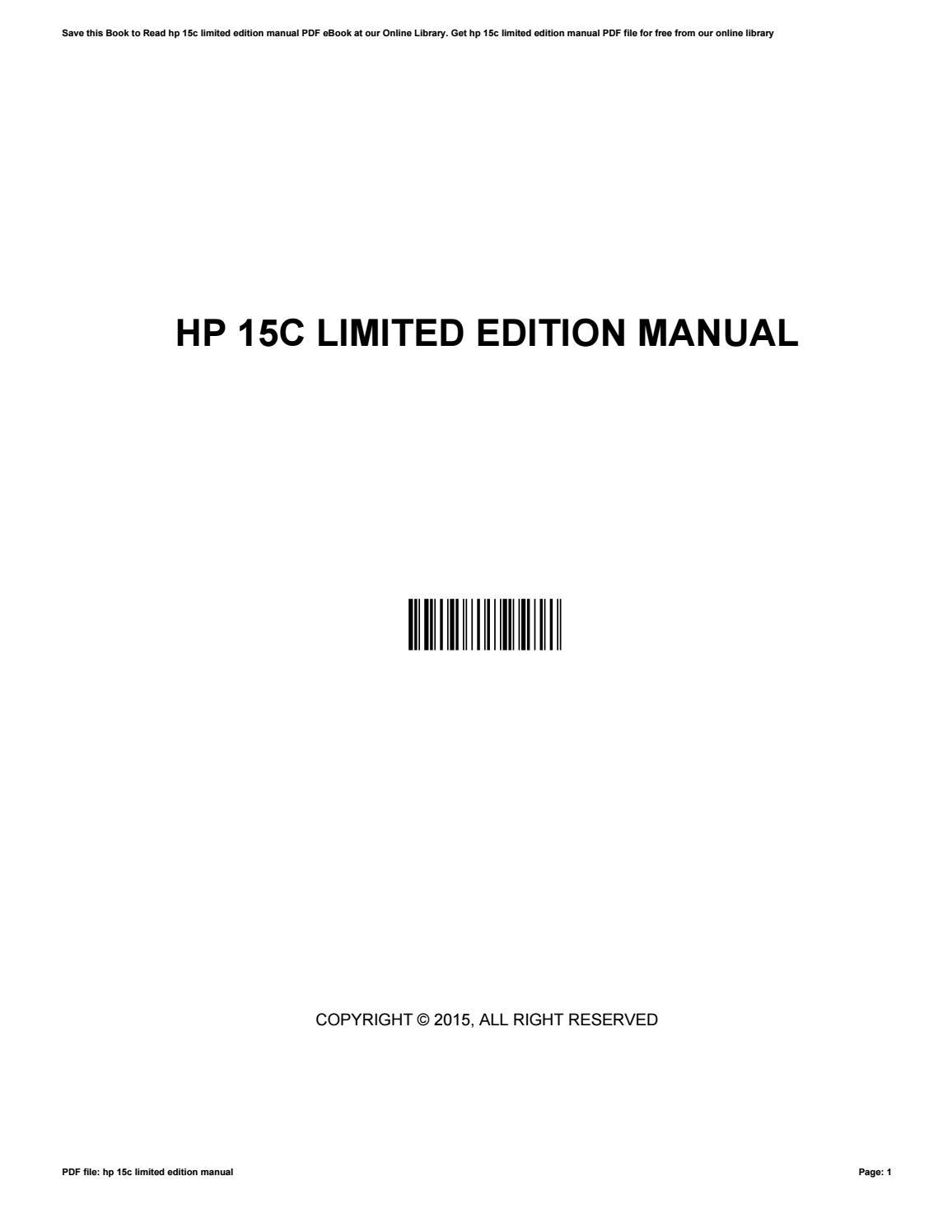 ... Array - hp 15c limited edition manual by furusato8 issuu rh issuu ...