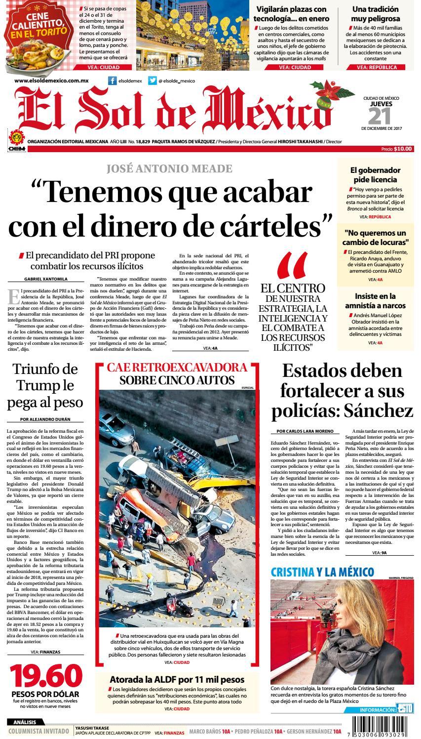 El Sol de México 21 de Diciembre de 2017 by El Sol de México - issuu fdeb82862edb8