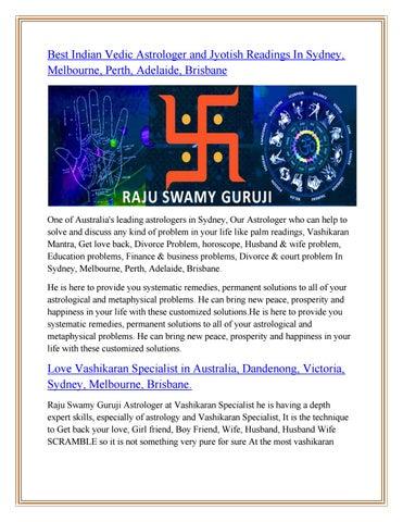 Best Vashikaran Specialist in Sydney, Vashikaran Mantra in Melbourne