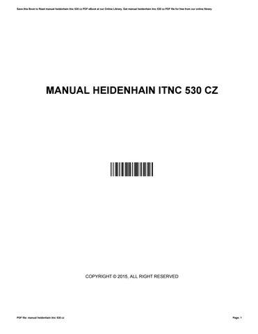 530 TÉLÉCHARGER HEIDENHAIN ITNC