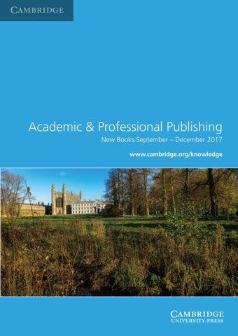 Academic professional publishing by cambridge university press issuu fandeluxe Gallery