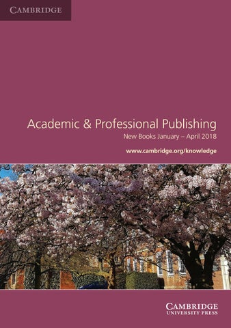 Seasonal catalog jan to apr 2018 by cambridge university press asia services for booksellers make use of the wide range of services which cambridge offers fandeluxe Images