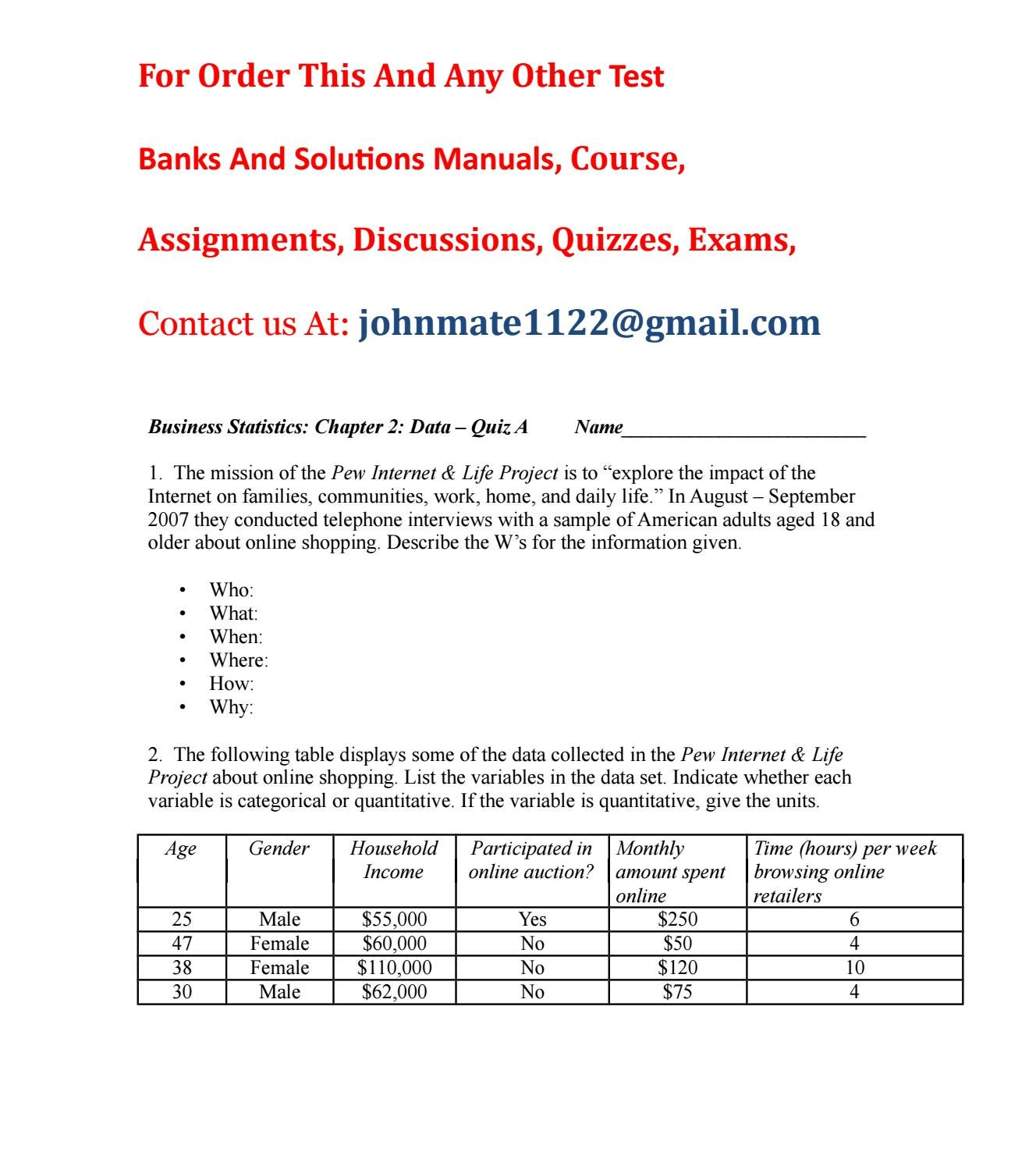 Test bank business statistics 2nd edition by yandex325 - issuu