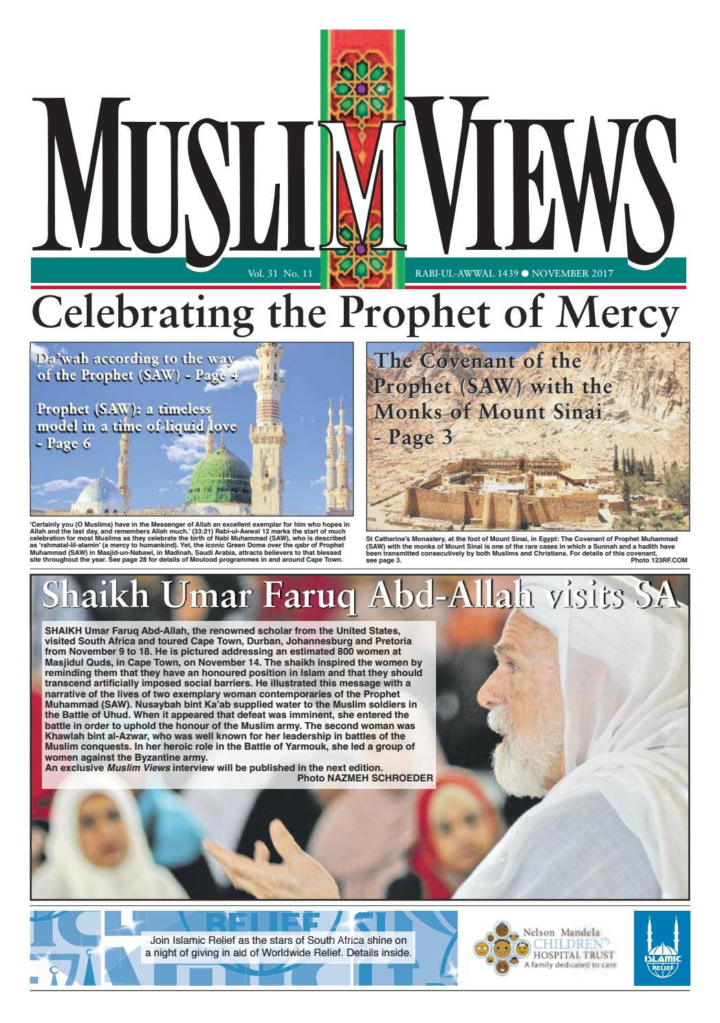 Muslim Views, November 2017 by Muslim Views - issuu