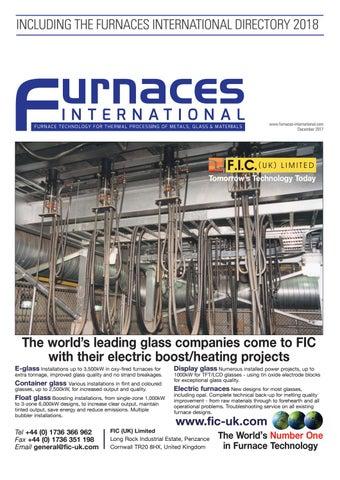 Furnaces International Digital December 2017 by Quartz ... on