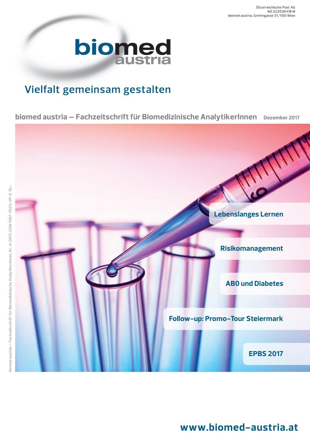 biomed austria Fachzeitschrift - Dezember 2017 by biomed austria - issuu