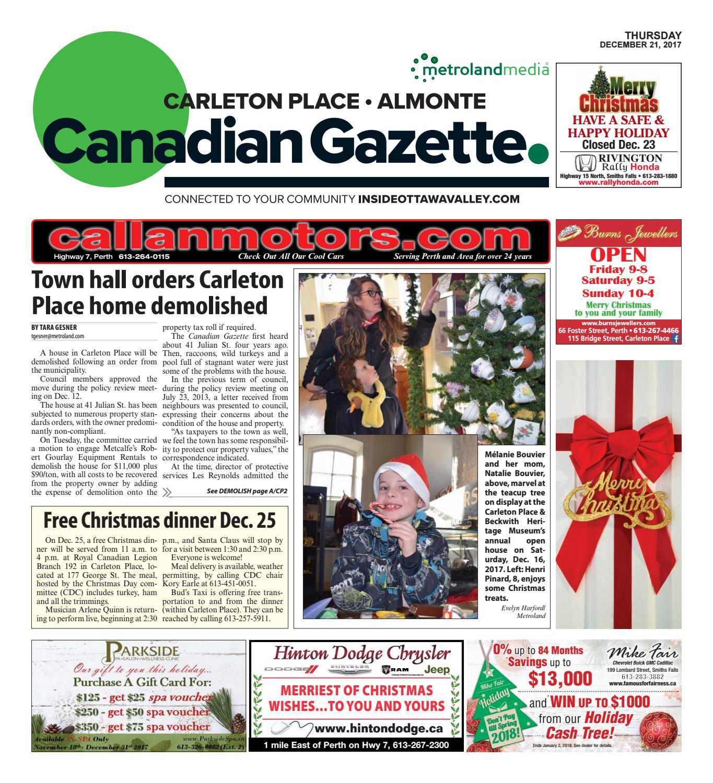 3d4b8ca3d Almontecarletonplace122117 by Metroland East - Almonte Carleton Place  Canadian Gazette - issuu