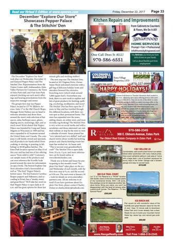 Estes Park News, December 19, 2017