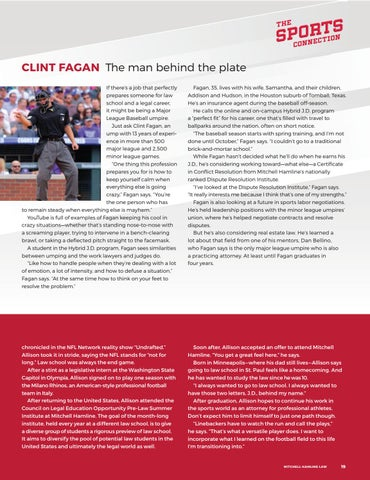 Page 21 of Clint Fagan: The man behind the plate