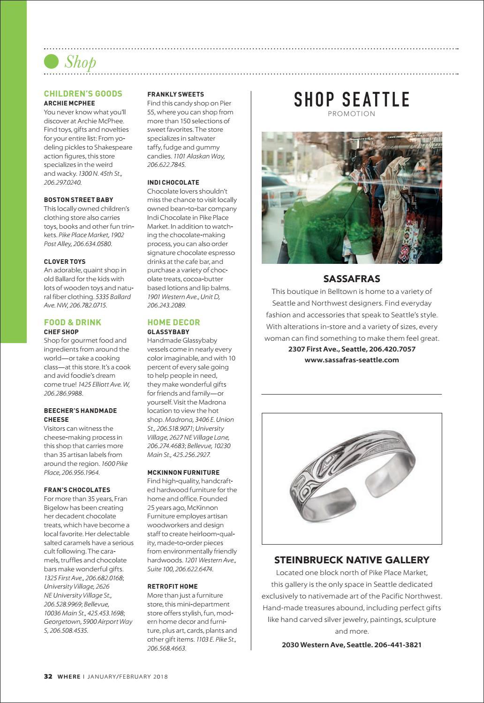 Where Magazine Seattle Jan 2018 by Morris Media Network - issuu