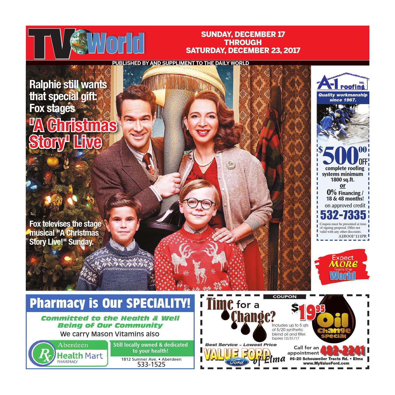 Groupon Fred Astaire Masquerade Christmas 2020 St. Petersburg Aberdeen Daily World   TV World   TV World   December 17 23, 2017