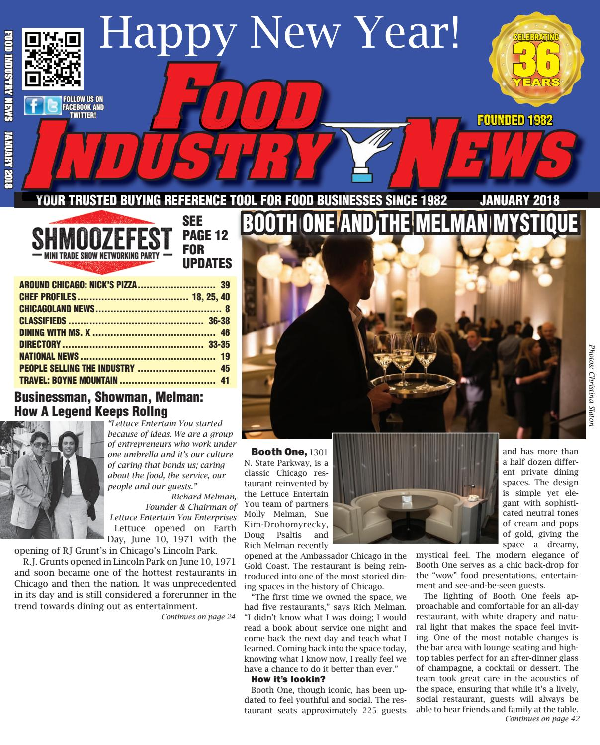 Food Industry News January 2018 web edition by