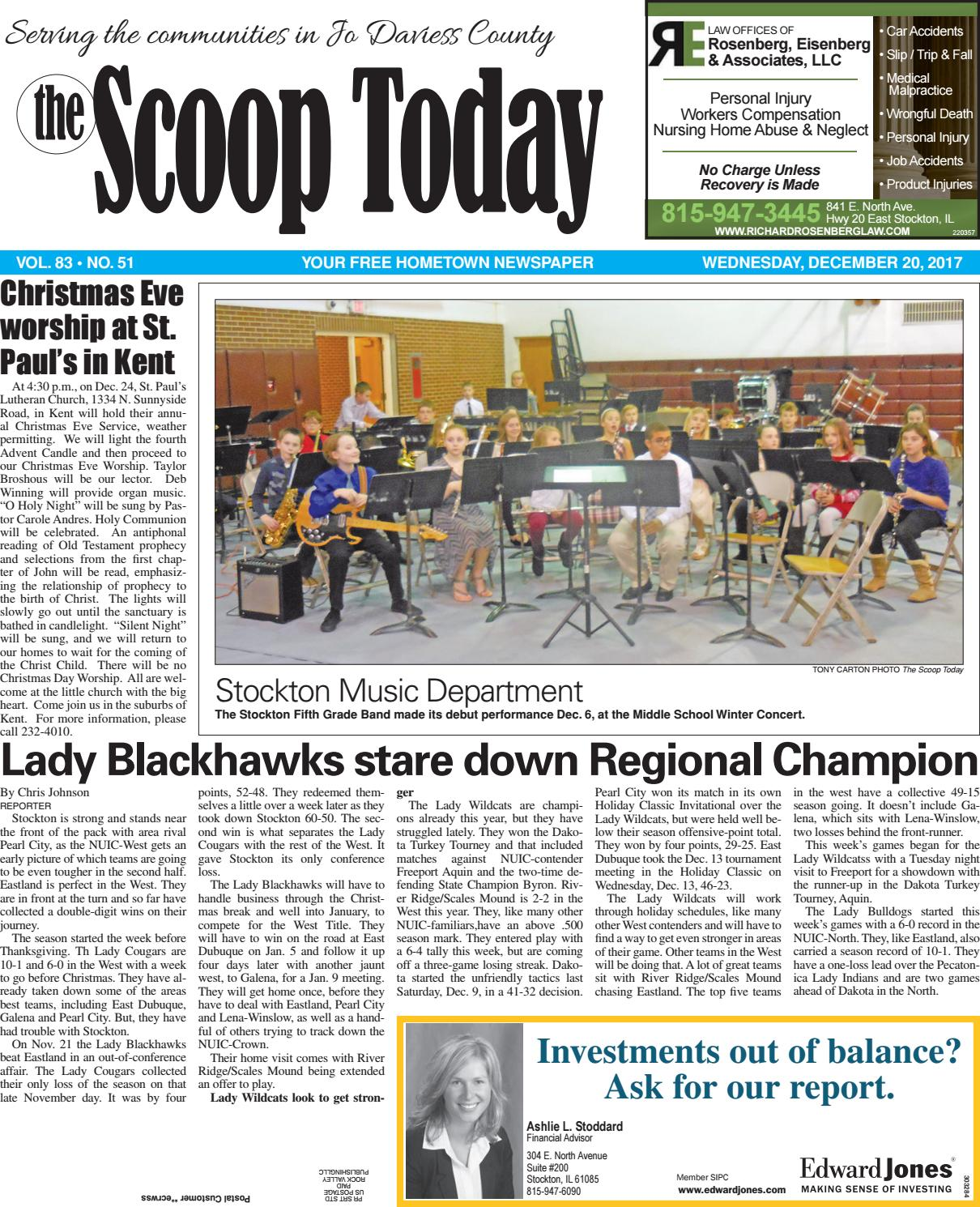 St 12 20 17 By Southern Lakes Newspapers Rock Valley Publishing