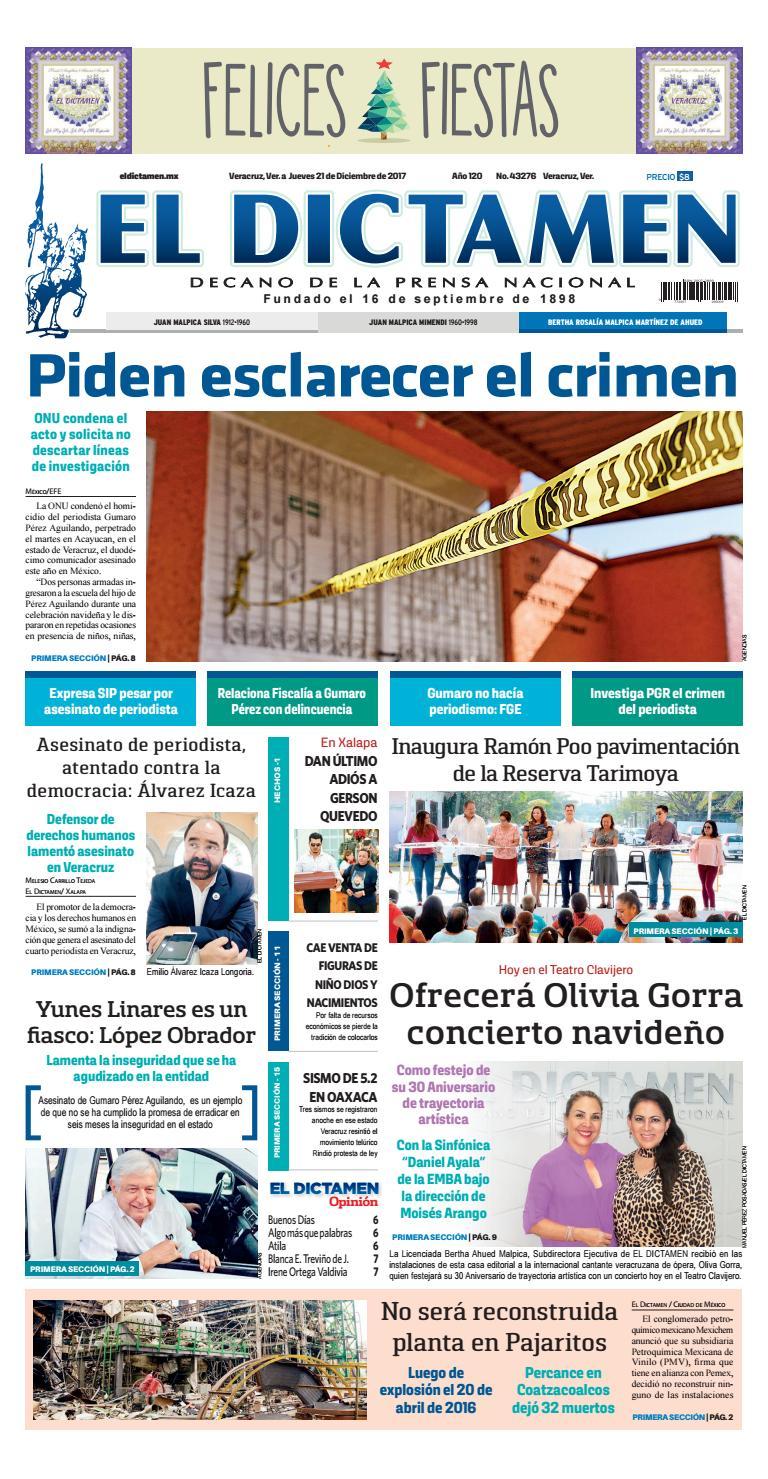 El Dictamen 21 de Diciembre 2017 by El Dictamen - issuu fa0a3e29b5d
