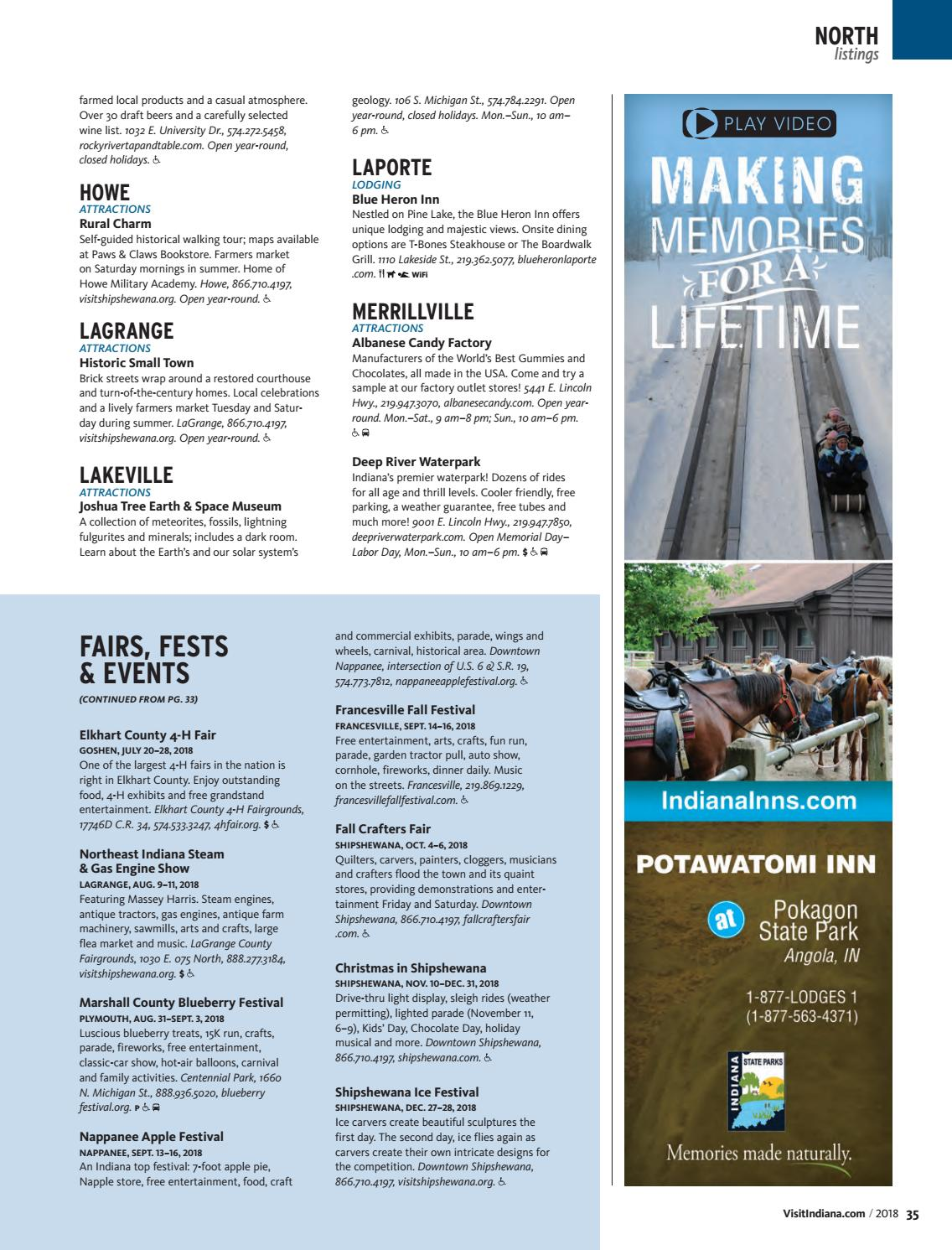 Indiana Travel Guide 2018 by Propeller Marketing - issuu