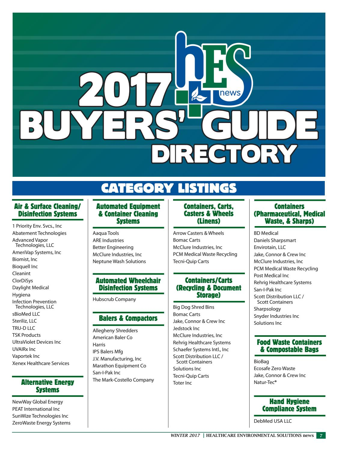 Hes 2017buyersguide by Downing and Associates - issuu
