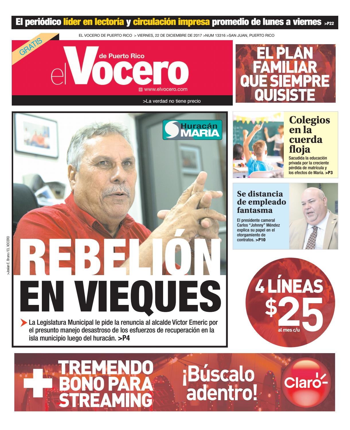Edici N Del 22 De Diciembre De 2017 By El Vocero De Puerto Rico