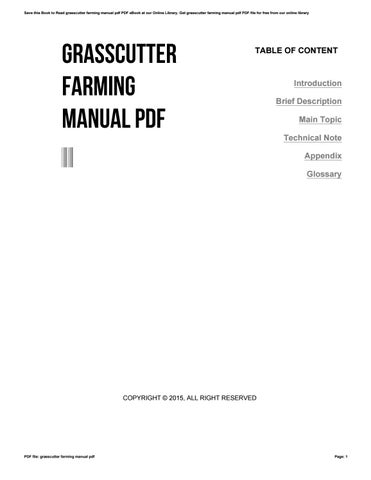 grasscutter farming manual pdf by mail622 issuu rh issuu com Grass Cutter Cages Farm grasscutter farming a manual for beginners