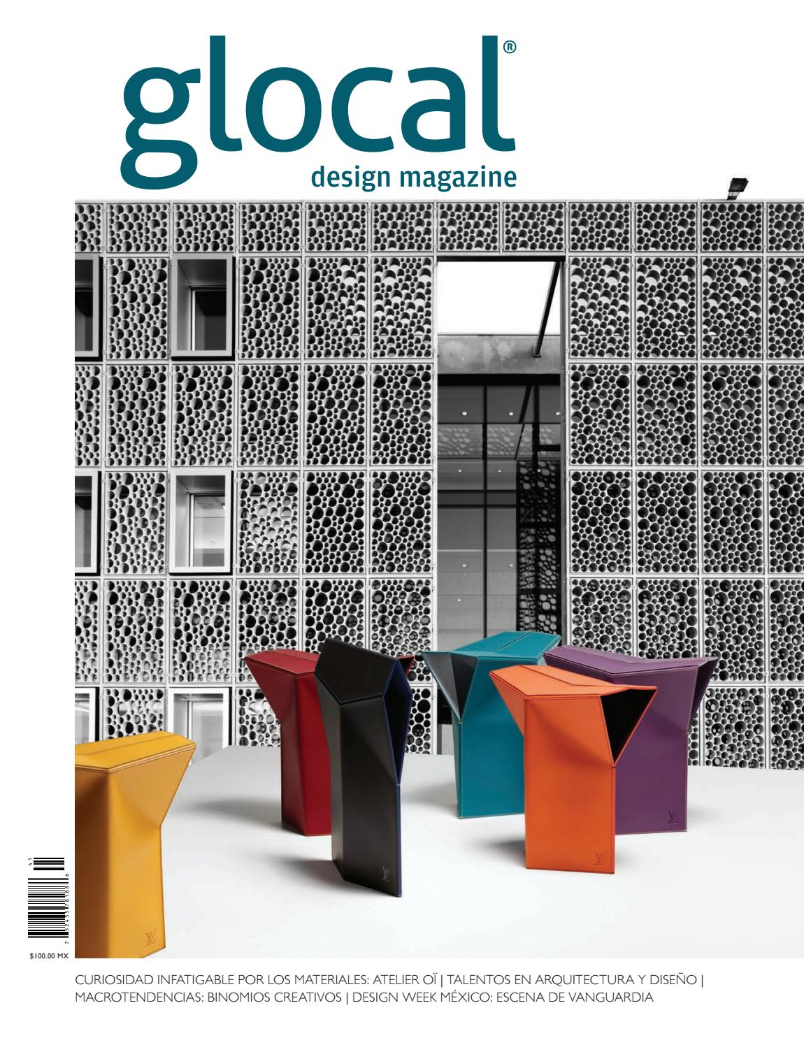Glocal Design Magazine No 41 Portada Por Cover By Atelier O  # Ad Hoc Muebles Veracruz