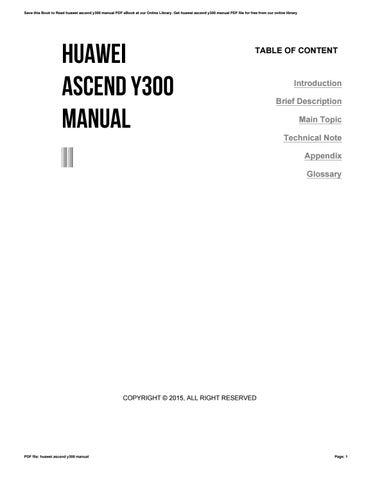 Huawei y300-0151 smartphone download instruction manual pdf.