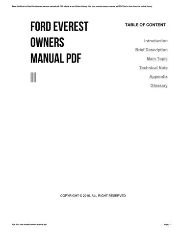 Ford everest-2007-owners-manual.