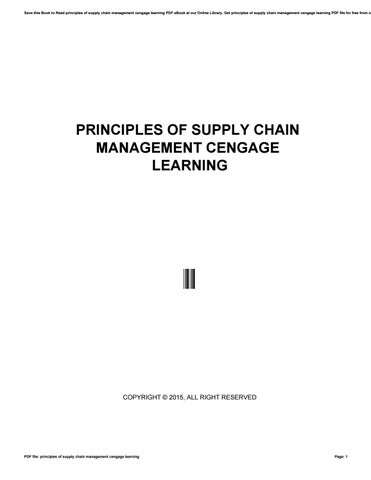 Principles of supply chain management cengage learning by monadi1 save this book to read principles of supply chain management cengage learning pdf ebook at our online library get principles of supply chain management fandeluxe Image collections