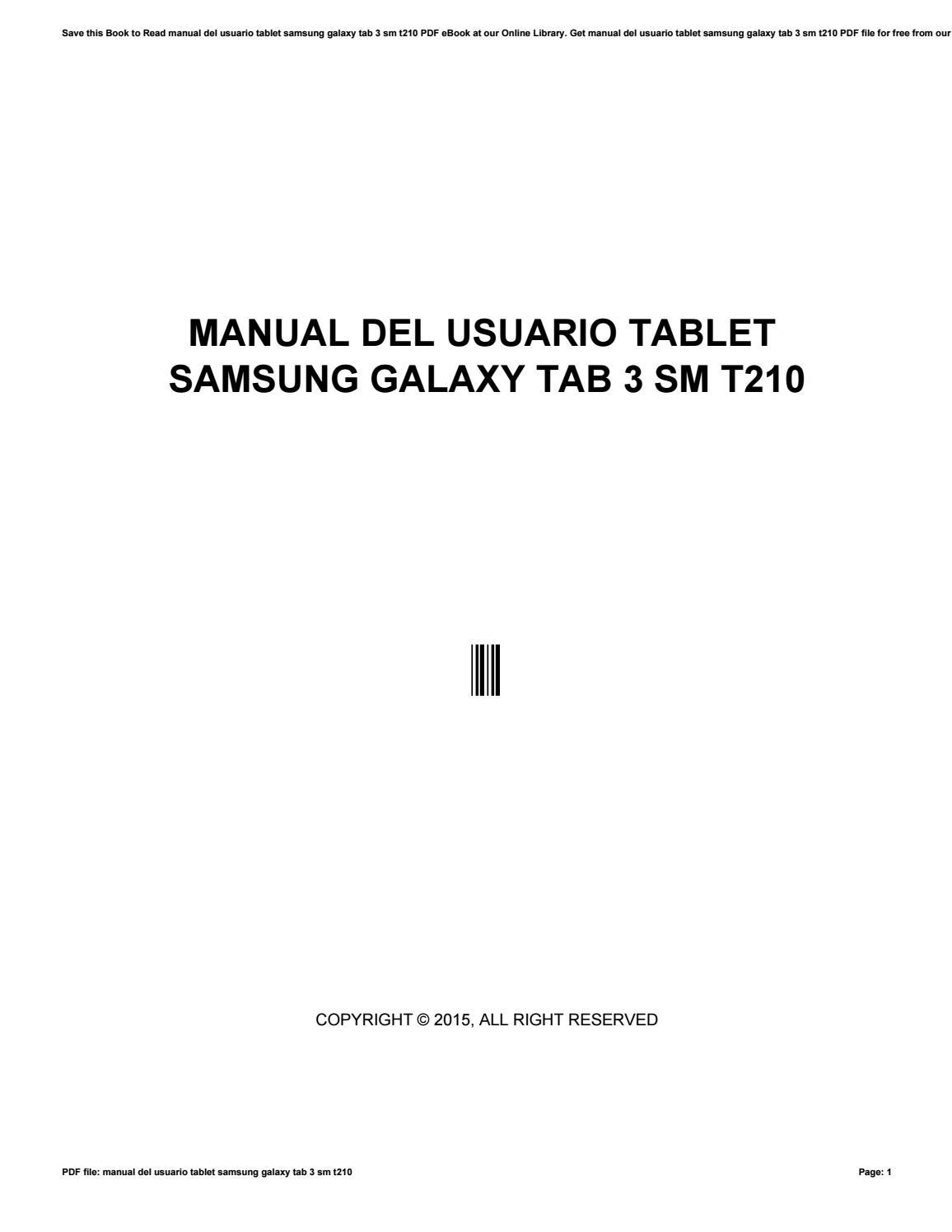 Manual del usuario tablet samsung galaxy tab 3 sm t210 by monadi1 - issuu