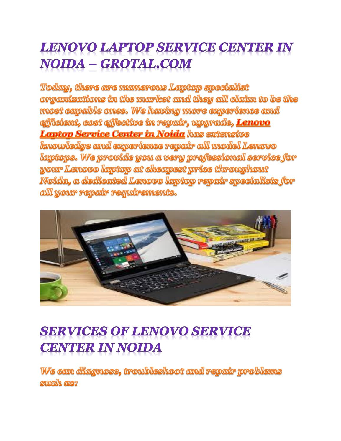 Lenovo service center in noida by Grotal - issuu