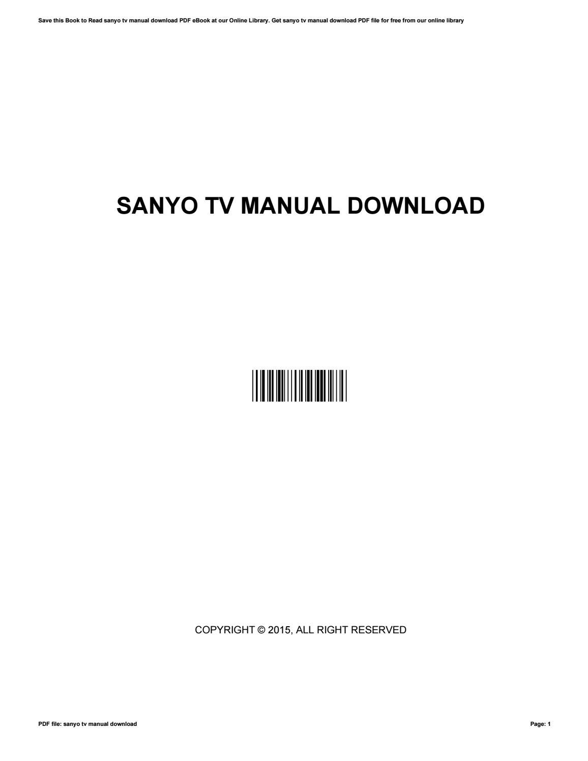 Sanyo tv manual download by mnode8 - issuu