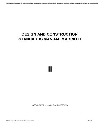 design and construction standards manual marriott by crymail237 issuu rh issuu com Masonry Design Foundation Construction and Design Manual