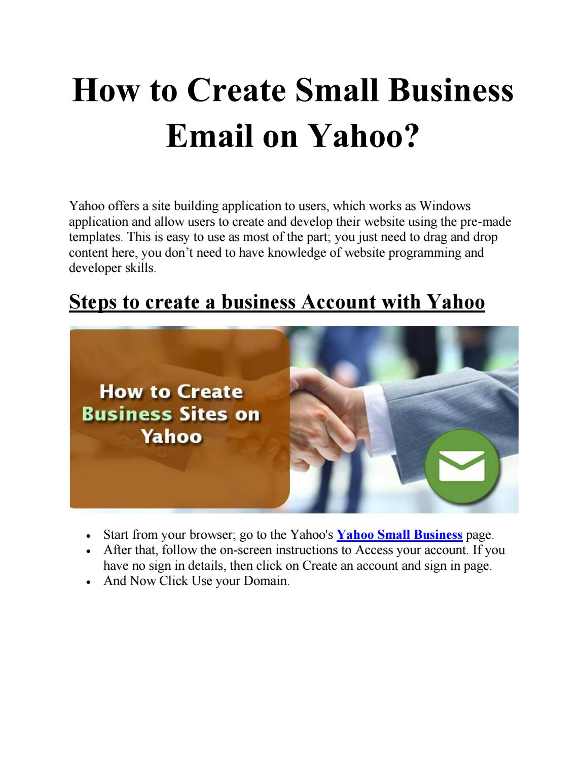Create small business email on yahoo by nancywillson issuu cheaphphosting Image collections