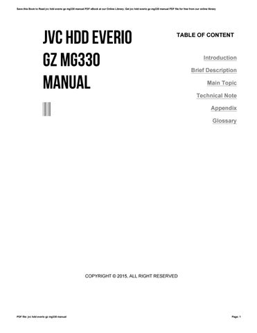 jvc hdd everio gz mg330 manual by morriesworld5 issuu rh issuu com jvc everio gz-mg330ru manual jvc everio gz mg330 software download