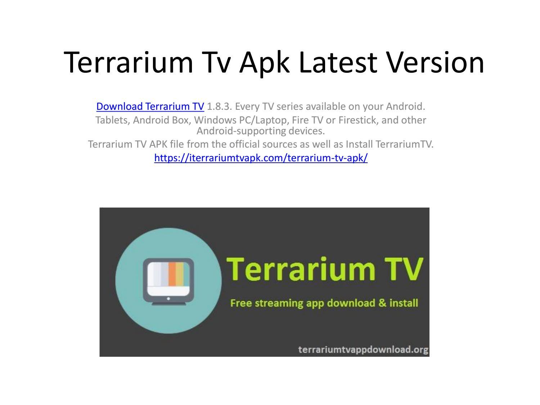 Terrarium tv apk latest output by cherlirown - issuu
