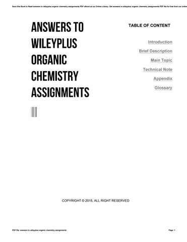 answers to wileyplus organic chemistry assignments by gotimes issuu save this book to answers to wileyplus organic chemistry assignments pdf ebook at our online library get answers to wileyplus organic chemistry