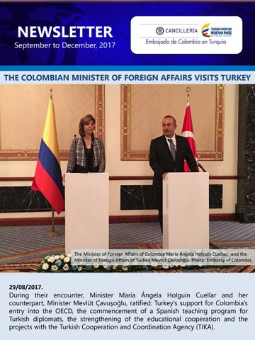 Newsletter Sep-Dec 2017 - Embassy of Colombia in Turkey by