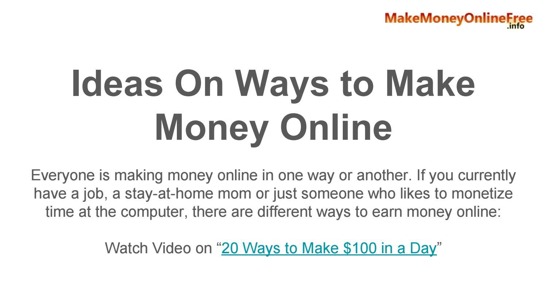 Ideas on Ways to Make Money Online by Sarataylor1 - issuu