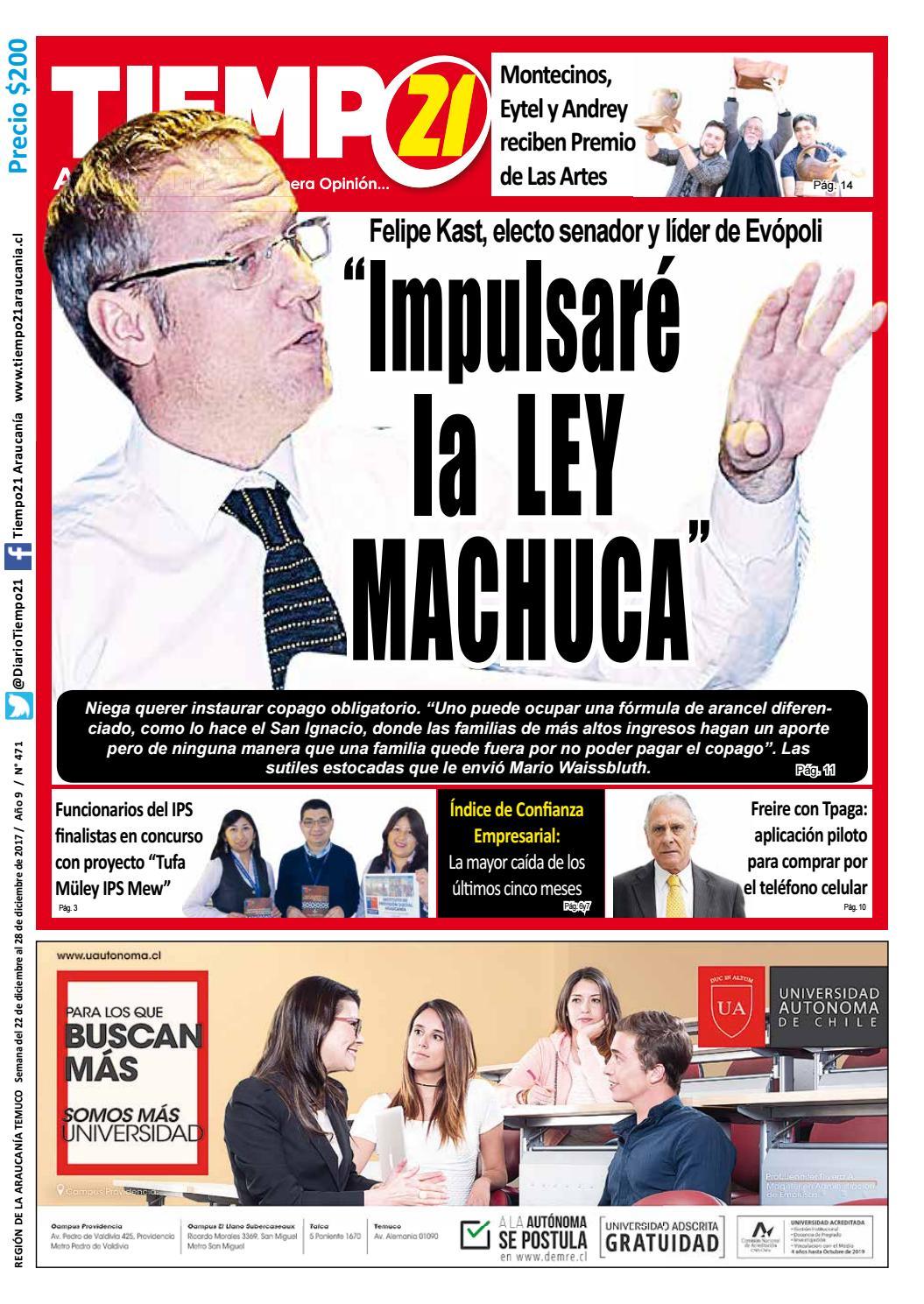 Edici N 471 Senador Por La Araucan A Felipe Kast Impulsar La  # Muebles Fourcade Limitada