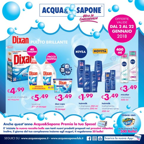 Volantino acqua sapone n 1 2018 by acqua sapone for Asclub volantino