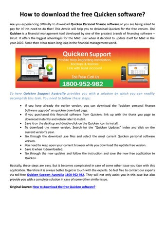 If you are Mac user and face any issues related to Quicken Mac no