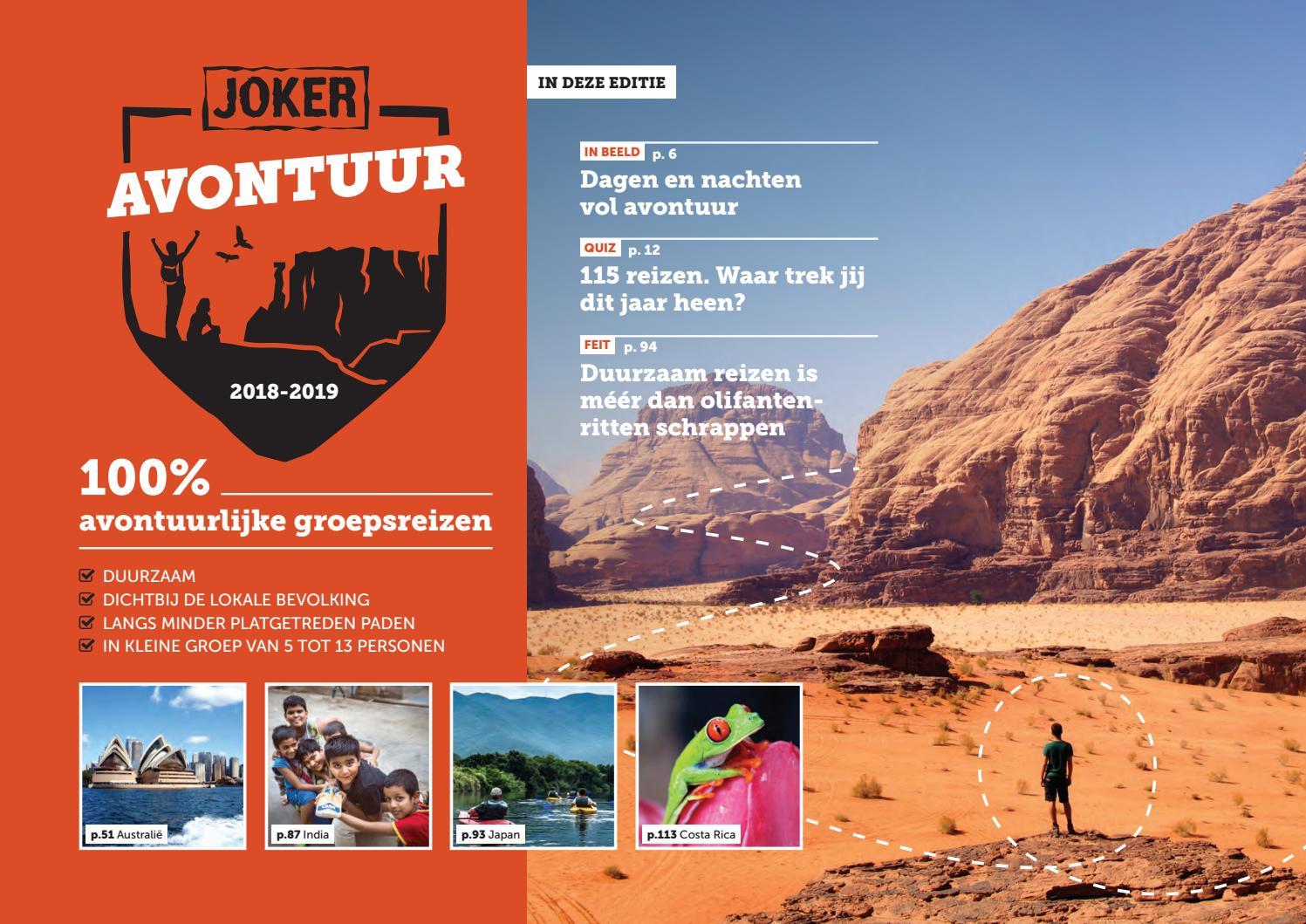 Issuu Avontuur 2019 Brochure 2018 Joker By Reizen 1TlFJuKc3