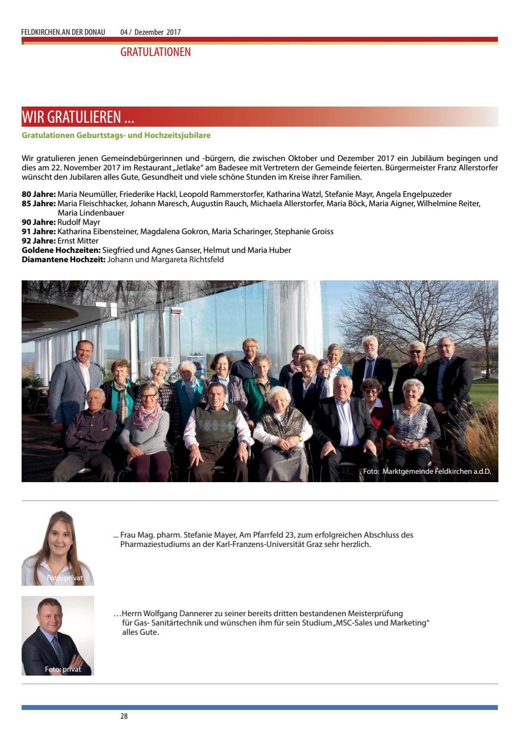 Amtsblatt Dezember 2017 By Feldkirchen An Der Donau Issuu