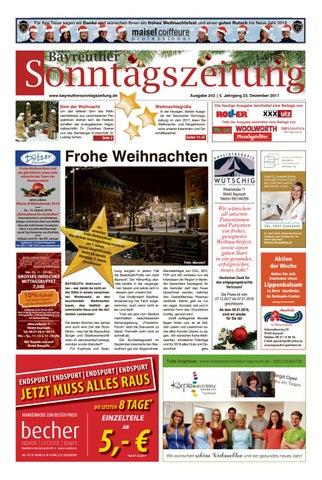 Bayreuther sonntagszeitung vom 23 12 2017 by Bayreuther ...
