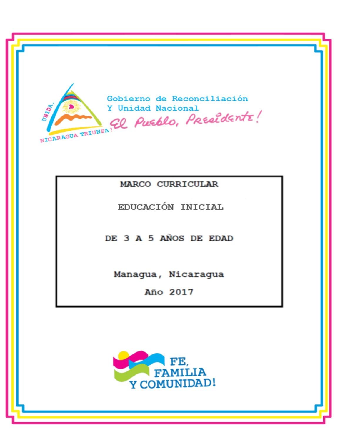 Marco curricular Educación Inicial 2017 by MINED Nicaragua - issuu