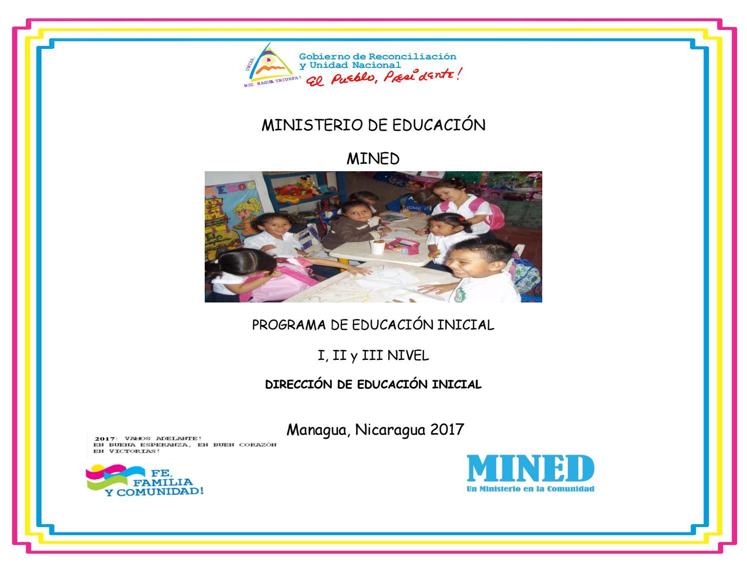 Programa de Educación Inicial I, II Y III Nivel by MINED Nicaragua - issuu