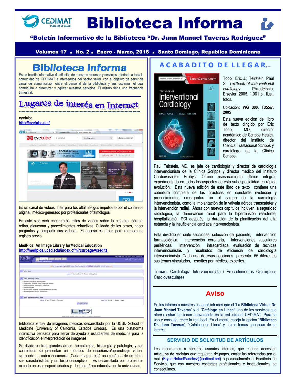 Biblioteca Informa Enero Marzo 2016 By Bibliocedimat Issuu