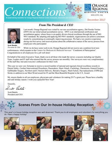 Connections December 2017 By Greater Hudson Valley Health System