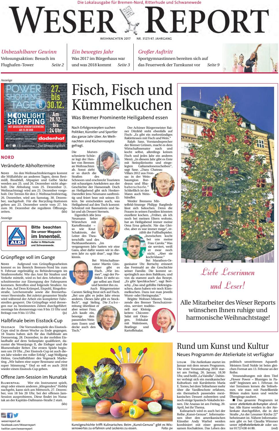 Weser Report Nord vom 24.12.2017 by KPS