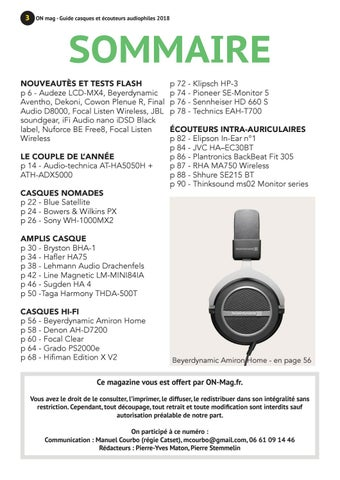 On Mag Guide Casques Et écouteurs Audiophiles 2018 By On Magazine